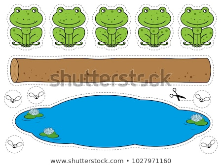 Cartoon frog game. Vector pages for children stock photo © Natali_Brill