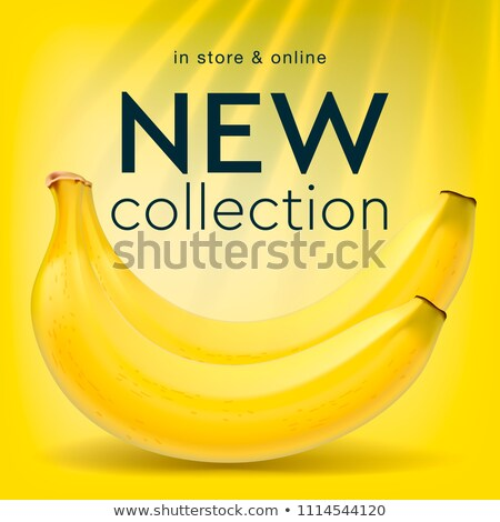 New collection, social media template for online store, bananas background, vector illustration. Stock photo © ikopylov
