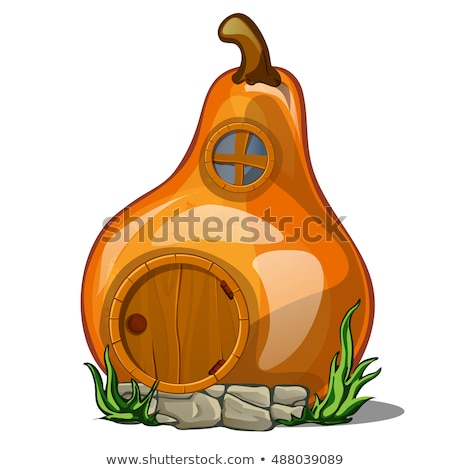 Fairy house in the shape of a pear isolated on a white background. Vector close-up cartoon illustrat Stock photo © Lady-Luck