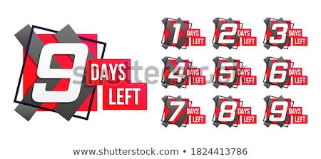 number of days left label badge or sticker design Stock photo © SArts