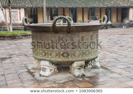 Vietnam, Hue. Ancient bronze container Stock photo © romitasromala
