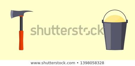 Scherp bijl behandelen Rood kleur witte Stockfoto © robuart