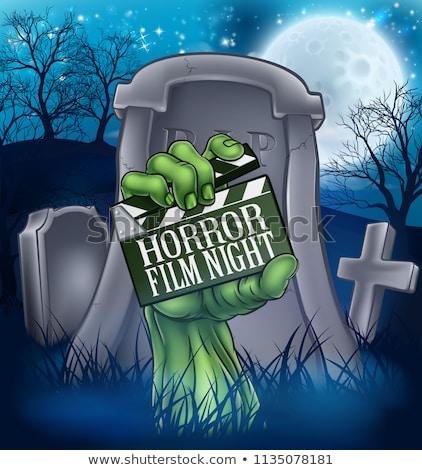 Entsetzen Film Film Zombie Monster Zeichen Stock foto © Krisdog