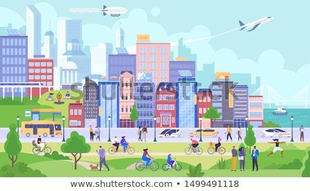 Urban transport scenery Stock photo © elwynn