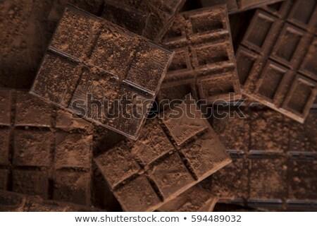 暗い 自家製 チョコレート バー ポッド 木製 ストックフォト © JanPietruszka