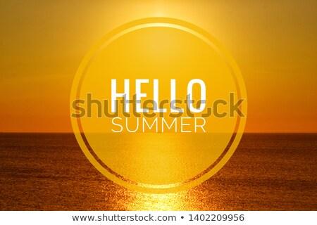 Merhaba yaz günleri poster avuç içi fotoğrafları parlak Stok fotoğraf © robuart