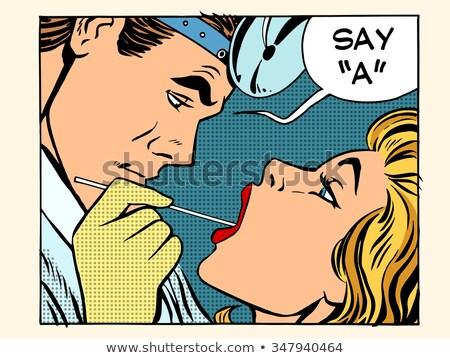 Pop art medico orecchio gola naso uomo Foto d'archivio © studiostoks