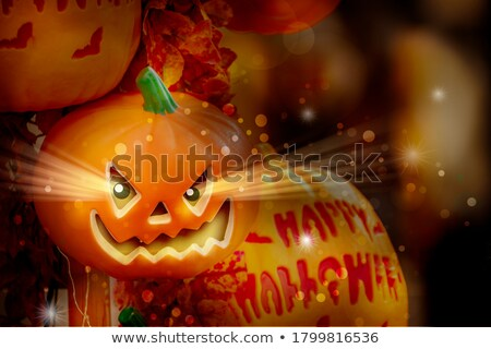 karikatür · halloween · dizayn · sanat · Retro · komik - stok fotoğraf © fizzgig