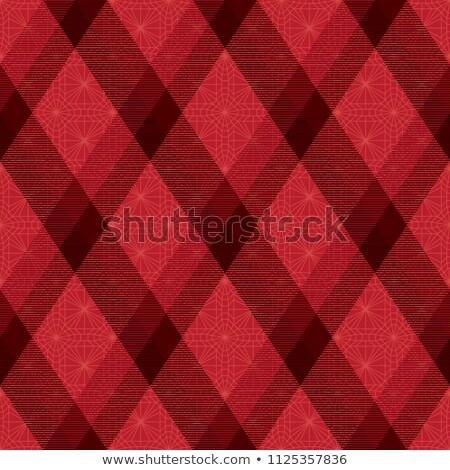 Decorative diagonal tartan inspired vector seamless pattern background 3 Stock photo © sanjanovakovic