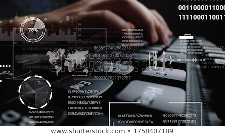 Laptop computer bitcoin hologram financieren business toekomst Stockfoto © dolgachov