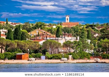Stad kleurrijk kustlijn eiland straat Stockfoto © xbrchx