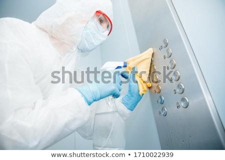 Bioveszély veszély tyúk bacilus műtősmaszk egészségügy Stock fotó © Lightsource
