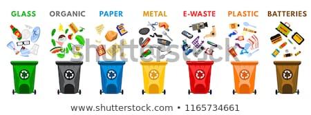 çöp · ayarlamak · ikon · toplama · çöp - stok fotoğraf © robuart