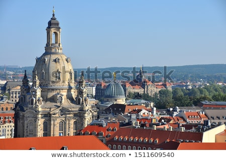 Aerial view over Dresden and the Frauenkirche Stock photo © manfredxy
