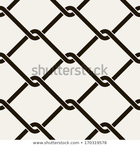 ferro · catena · isolato · bianco · vettore · eps - foto d'archivio © krisdog