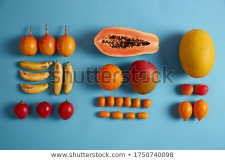 friss · szelet · ananász · fából · készült · gyümölcs · zöld - stock fotó © artjazz