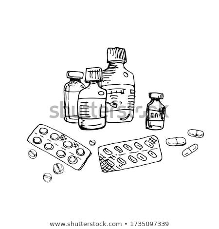 Pack nero pillole raccolta malattia trattamento Foto d'archivio © robuart
