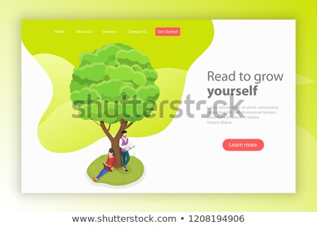 Read to grow yourself. Isometric flat vector. Stock photo © TarikVision