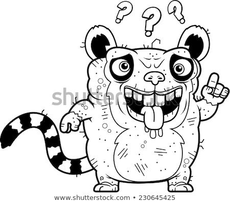 Confuso feio desenho animado ilustração olhando gráfico Foto stock © cthoman
