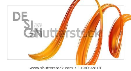 Colorful flow design. Trending wave liquid vector illustration on white Stock photo © m_pavlov