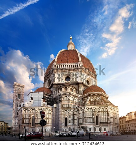 Stok fotoğraf: Majestic Cathedral Santa Maria Del Fiore In Florence