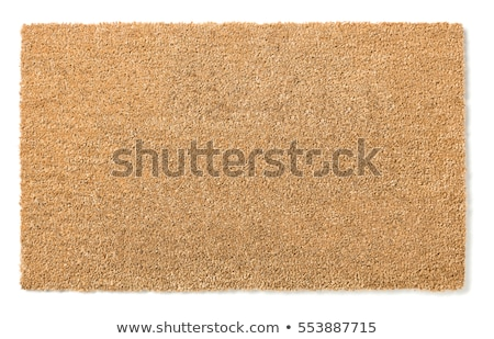 Blank Welcome Mat Isolated on White Background Stock photo © feverpitch