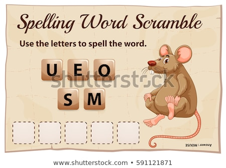 Spelling word scramble game with word rats Stock photo © colematt