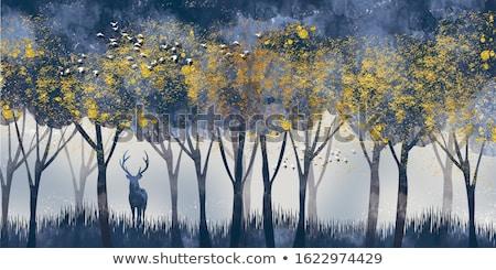 karácsony · arany · végtelen · minta · szarvas · rénszarvas · arany - stock fotó © artspace