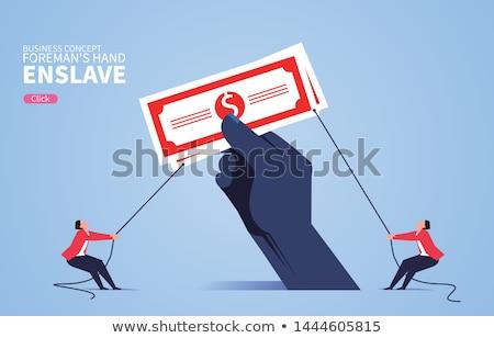 Kéz pénz markolás illusztráció lebilincselő szoros Stock fotó © lenm