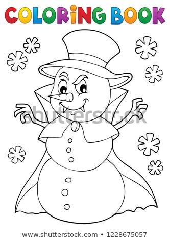Livre de coloriage vampire bonhomme de neige livre neige art Photo stock © clairev