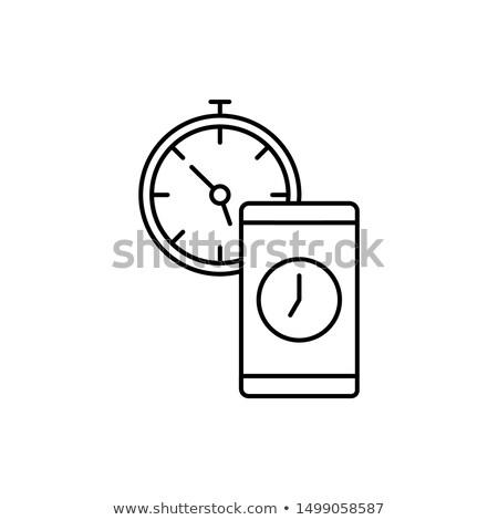 Wifi verbinding signaal icon klok tijd Stockfoto © kyryloff