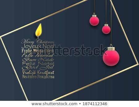 Rosso Natale palla banner francese lingua Foto d'archivio © cienpies