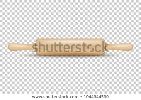Wooden rolling pin 3D Stock photo © djmilic