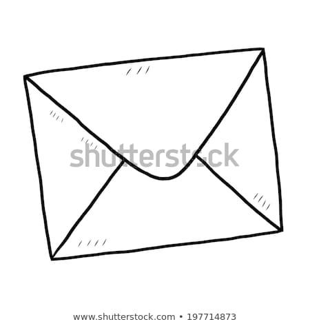 Mailing envelope isolated on white background. Vector cartoon close-up illustration. Stock photo © Lady-Luck