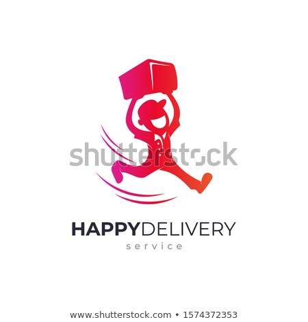 Stock photo: Cargo Delivery Company People Vector Illustration