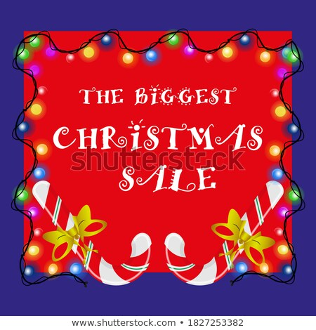 biggest christmas party flyer template stock photo © sarts