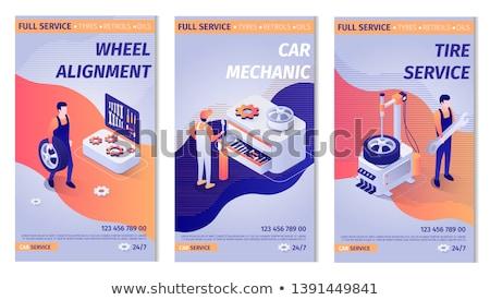службе · центр · автомобилей · обслуживание · станция · иконки - Сток-фото © robuart
