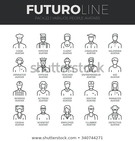 avatar · personas · establecer · web · Internet - foto stock © krisdog