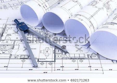 Kompas witte project magnetisch naald wijzend Stockfoto © make