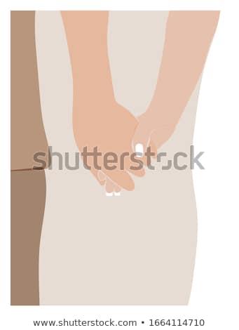 Stockfoto: Paar · datum · ontwerp · stijl · kleurrijk · illustratie
