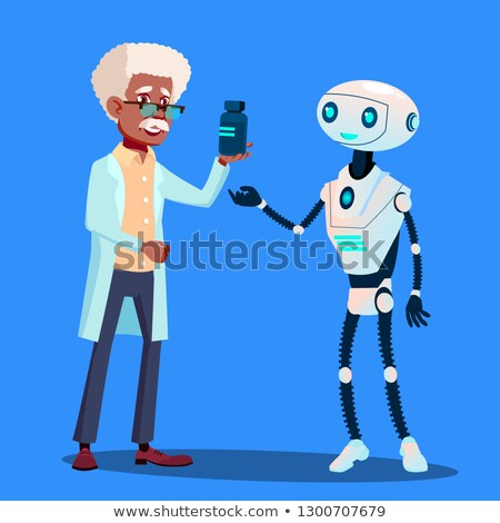 Smart Robot Visiting Doctor Vector. Isolated Illustration Stock photo © pikepicture