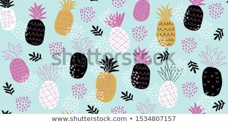 Fruta tropical ícones padrão moderno comida Foto stock © netkov1
