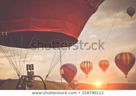 Hot air balloon on blue sunlight sky Stock photo © BSANI