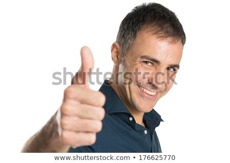 Empresario sonrisa bueno gesto blanco Foto stock © studiostoks