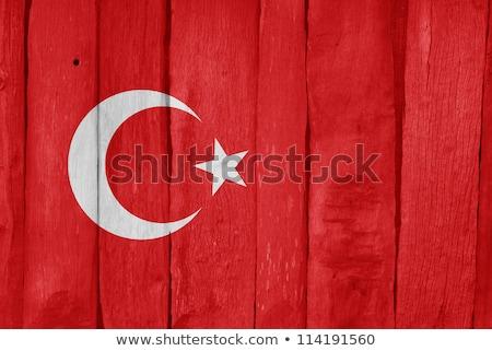 Turkije vlag houten frame illustratie ontwerp achtergrond Stockfoto © colematt