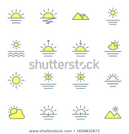 été · Voyage · silhouette · plage · coucher · du · soleil · rétro - photo stock © freesoulproduction