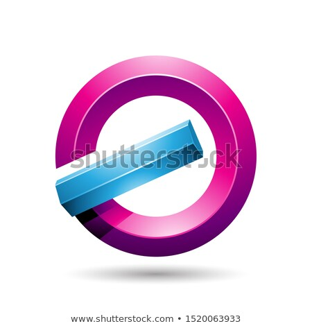 Blue and Magenta Round Glossy Reversed Letter G or A Icon Stock photo © cidepix