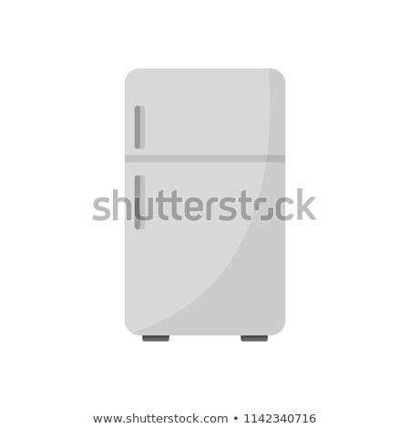 Kühlschrank Symbol Vektor Karikatur Kunst Illustration Stock foto © vector1st
