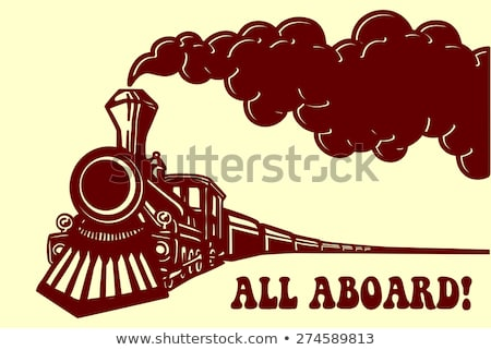 列車 · 白 · ビジネス · 道路 · デザイン - ストックフォト © arkadivna