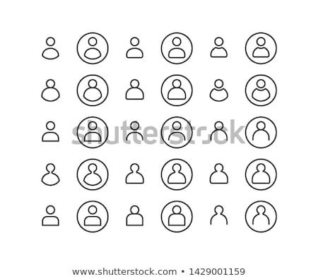 Usuário linear ícone círculo botão isolado Foto stock © kyryloff